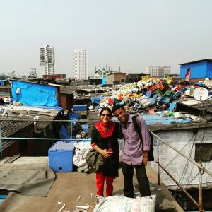 With Mohammed of Dharavi Slum Tours